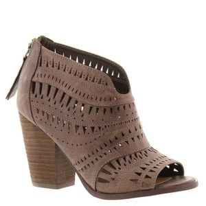 Not Rated Groove Thang Sandals Taupe Booties NEW